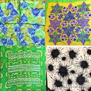 mod scarf bundle, 4 vintage scarves PRICE FIRM